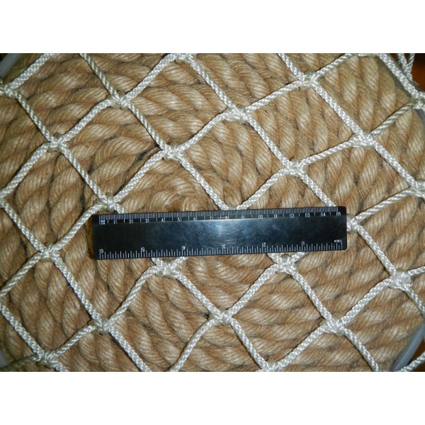 Сетка декоративная из полиамидной веревки, 71х71 см ячейка